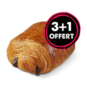 Lot Pains chocolat 3+1 Offert